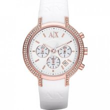 Armani Exchange Rose Gold Chronograph Ladies Watch Ax5063