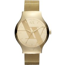 Armani Exchange Women's Yellow Dial Watch AX3141