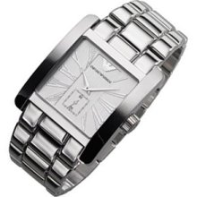 Armani Men's Watch Ar0182 Stainless Steel Quartz Battery Operated