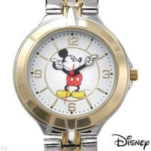 Authentic Collectible Disney Mickey Mouse Arms Are The Hands Bracelet Watch
