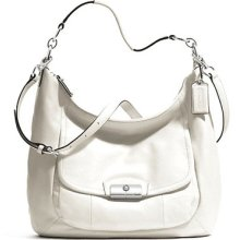 Authentic Women's Coach Kristin Leather Large Hobo White