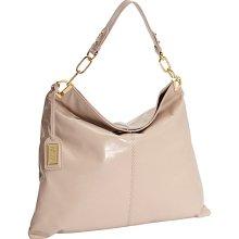 Badgley Mischka Gaia Shine Hobo Latte - Badgley Mischka Designer Handbags