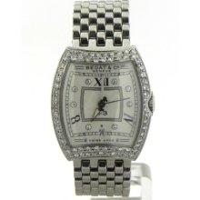 Bedat & Co No. 3 Ladies Ss 1.12 Cts. Diamonds Bezel & White Dial