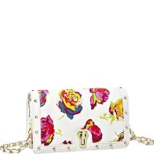 Betsey Johnson Female Fringey Floral Stud Heart Crossbody