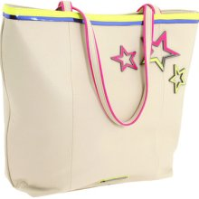 Betsey Johnson Ivory Neon Stars Tote- Ivory