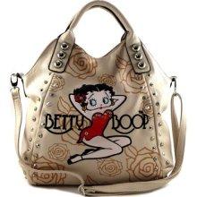 Betty Boop Rhinestone Oversized 2way Satchel Handbag