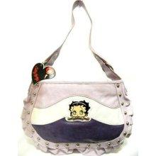 Betty Boop Stripped Shoulder Style Medium Studded Skirt Design Bag