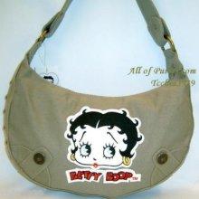 Betty BROWN KHAKI denim stud RED hobo pocket bag purse