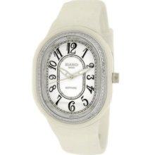 Bianci White Ceramic Watch With Zirconia Bezel 5836l