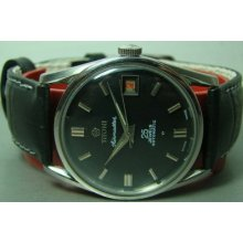Black Dial Date Vintage Titoni Airmaster Rotomatic Auto Swiss Mens Watch Antique
