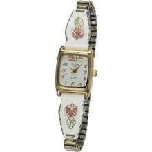 Black Hills Gold Womens White Expansion Band Watch