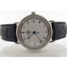 Breguet 18k White Gold Marine Classique Men's Watch With Box & Paper