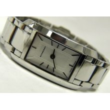 Burberry Womens Silvertone Stainless Steel Watch Bu1057