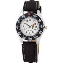 Cactus Children's Quartz Watch With White Dial Analogue Display And Black Plastic Or Pu Strap Cac-57-M01