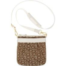 Calvin Klein Hudson Cross-Body Bag - Khaki/Brown/White