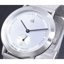 Calvin Klein Swiss Made Mesh Bracelet Men' S Latest Watch K0331126