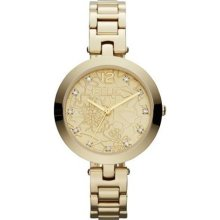 Camille - Gold Bracelet w/ Etched Dial ...