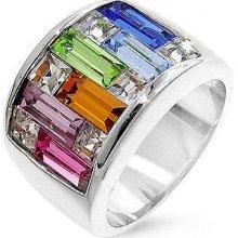 Candy Maze Multicolored Swarovski Crystal Ring