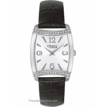 Caravelle Ladies Crystal Fashion Watch Whtie Dial Black 43T09