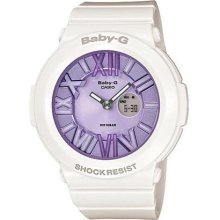Casio Baby-g, Analog-digital, Neon Illuminator, Bga-160 Bga161 Bga-161-7b1 White