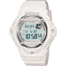 Casio Baby G Shock White Whale Digital White Dial Women's Watch -