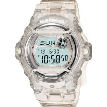 Casio Baby G-Shock BG169R-7B Clear Whale Digital Sport 200M Water Alarm Watch