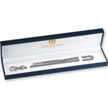 Charles Hubert Solid Stainless Steel 14.5in Pocket Watch