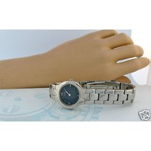 Citizen Ladies Beautiful Dress Watch Blue Dial S/s Bracelet Bezel Quartz Watch