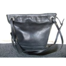 Coach Leather Shoulder Bucket Bag Pre Owned Great Condition