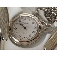 Colibri Pocket Watch, Item Pws96030s, In Wood Presentation Box