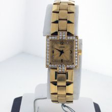 Concord La Scala Diamond Dial And Diamond Bezel 18k Yellow Gold Ladies Watch.