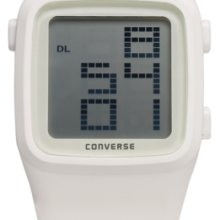 Converse Watch, Unisex Digital Scoreboard White Silicone Strap 43mm VR