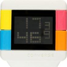 Converse Watch, Unisex Digital High Score White Silicone Strap 47mm VR