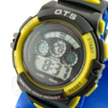 Digital Sports Ladies' Kids' Watch (833) (yellow) #51501