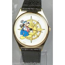 Disney Gold Explorer Mickey Mouse Watch Hard To Find