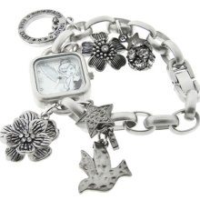 Disney Tinkerbell Watch The Art Of Tink Tinker Bell Charm Bracelet Women's Watch