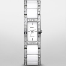 Dkny Ceramic & Stainless Steel 50m Ladies Watch Ny8408