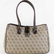 Dooney & Bourke Brown Signature Shoulder Bag