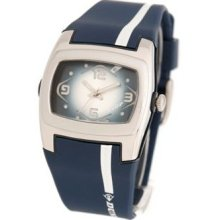 Dunlop DUN-42L03 - Dunlop Lady Digital Chronograph Watch, Blue And White Dial, Details And Rubber Band.