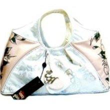 Ed Hardy Pink/white Hobo Handbag/shoulderbag/tote/satchel