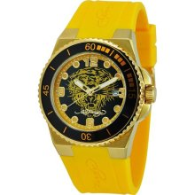 Ed Hardy Womens Yellow Dive Watch