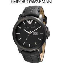 Emporio Armani Ea Mens Watch Big Black Oversize Steel Case Ar0496