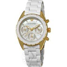 Emporio Armani Women's 'sport' Goldtone Stainless Steel Bracelet Watch