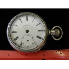 Estate Pocket Watch Antique Vintage Heavy Rail Road Roskell London Silveroid