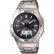 F/s Casio Watch Wave Ceptor Uebuseputa Tough Solar Radio Wva-470dj-1ajf