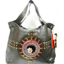 Fashion Betty Boop Heart Studded Style Hobo Handbag Bag