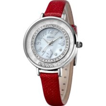 Fashion Watch Girl Ladies Watches Diamond Dial Thin Leather Band 51022