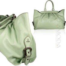 Fendi Tote Bag Calf leather Designer Doctor Bag Green 8BN191 (FF1533)