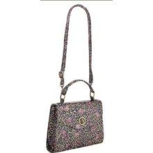 Floral Faux Leather Shoulder Bag