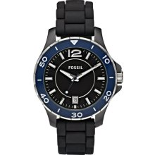 Fossil CE1036 Silicone Black Dial Ceramic Men Watch